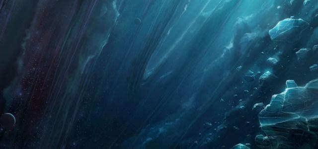 科幻星河陨石高清背景图片素材下载