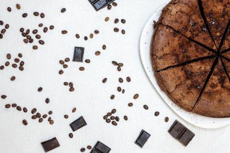 咖啡蛋糕俯拍