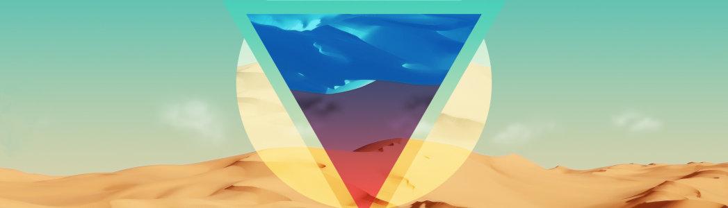 几何唯美背景图