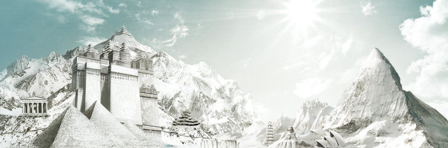 冬季雪山背景