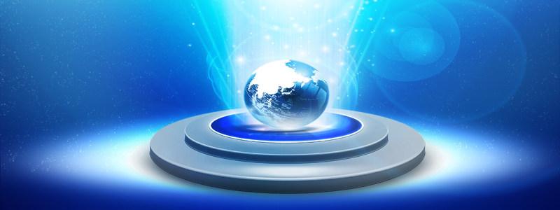 蓝色科技地球发展背景