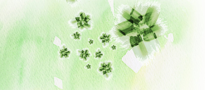绿色小清新背景