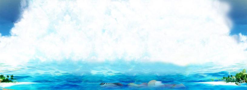 唯美海浪淘宝广告banner高清背景图片素材下载