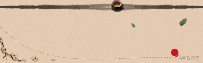 茶叶茶文化中国风古典背景banner背景高清大图-茶文化背景Banner海报