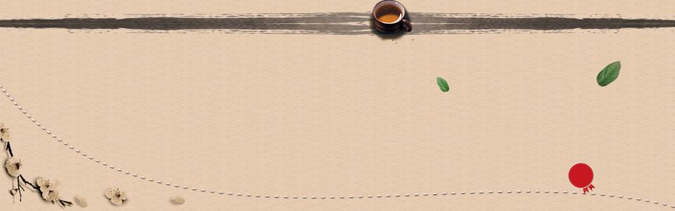 茶叶茶文化中国风古典背景banner高清背景图片素材下载