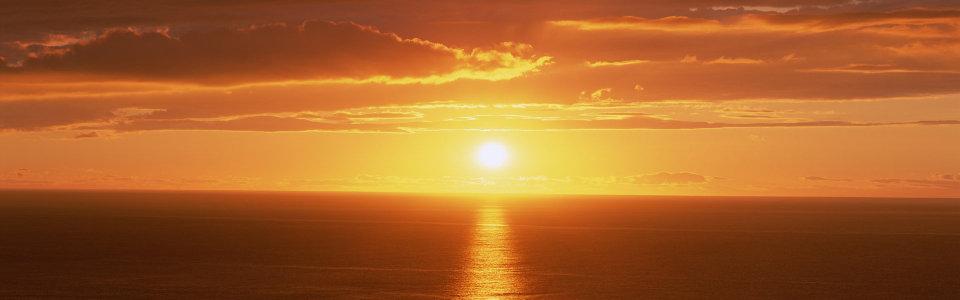 夕阳黄昏景色高清背景图片素材下载