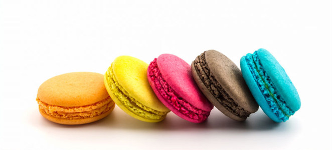 色彩鲜艳的马卡龙特写摄影高清