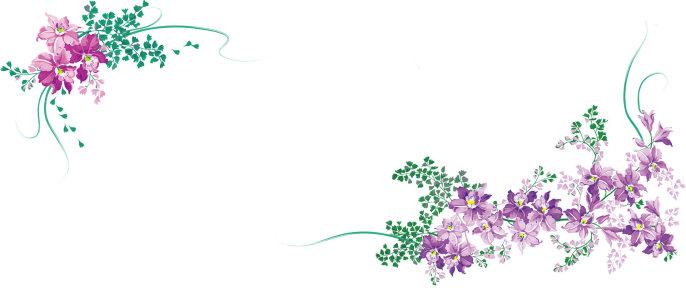韩国手插画背景banner