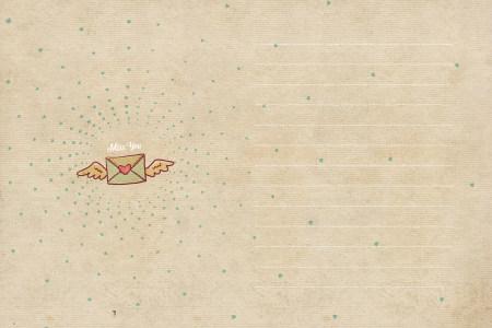 情书信纸背景