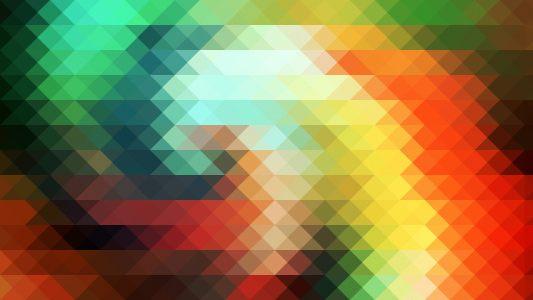 彩色三角几何背景高清背景图片素材下载