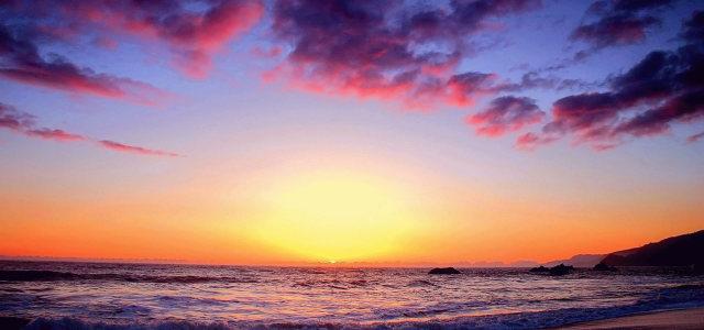 大海夕阳背景