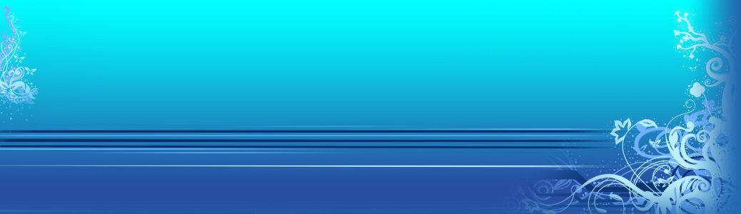 蓝色花纹质感背景banner