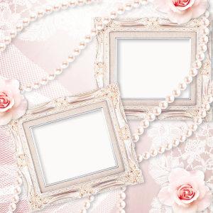 婚礼唯美相框背景高清背景图片素材下载