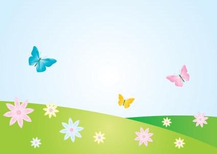 春天卡通背景高清背景图片素材下载