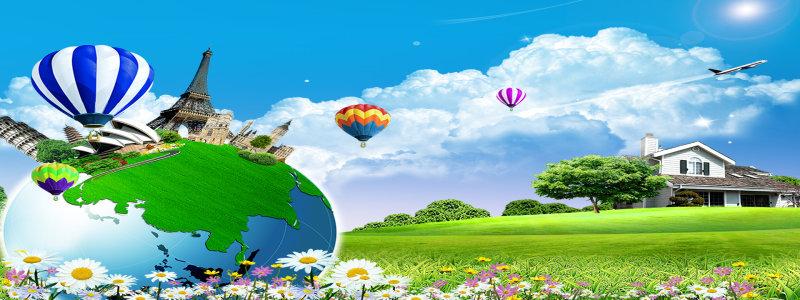 创意地球海报高清背景图片素材下载