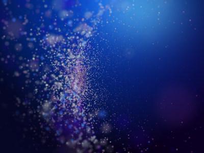 蓝色模糊的尘埃微粒背景