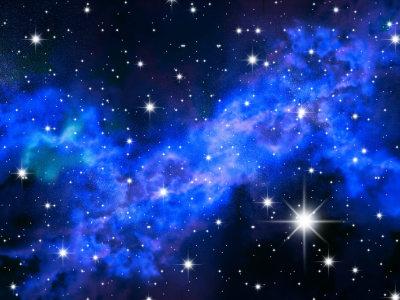 蓝色星空背景