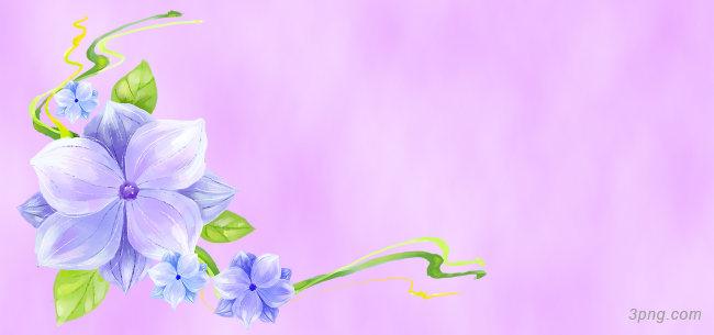 紫色手绘花朵背景高清大图-手绘背景卡通/手绘/水彩