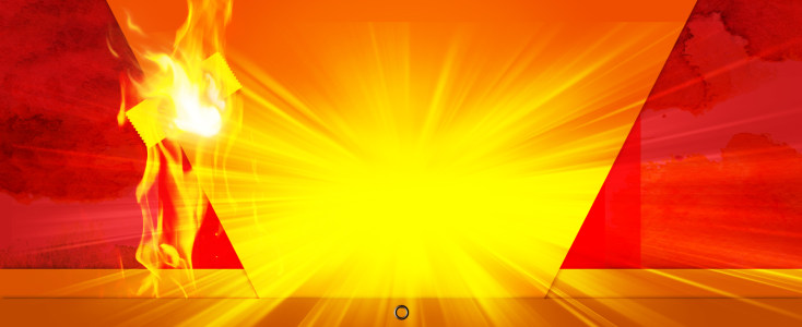 黄色发光背景