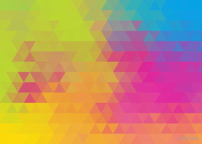 彩色三角形背景背景高清大图-三角形背景其他图片