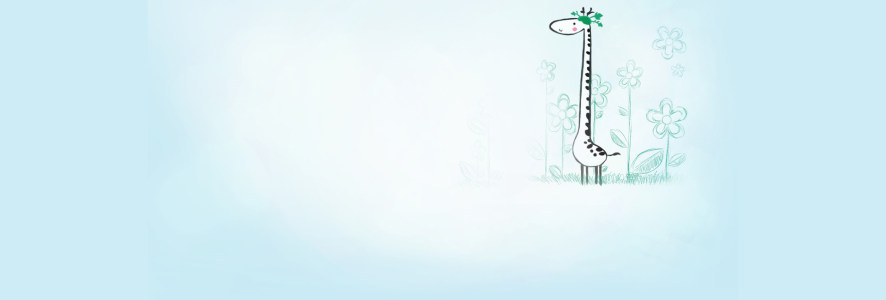 卡通手绘小鹿背景banner高清背景图片素材下载