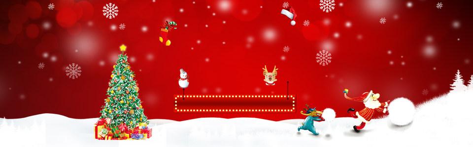 红色雪花圣诞节背景