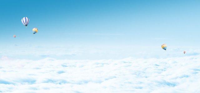 天空气球背景图