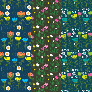 花丛底纹花纹矢量背景高清背景图片素材下载