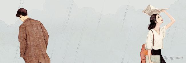 手绘banner背景高清大图-手绘背景Banner海报
