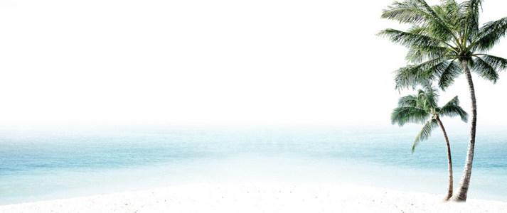 淘宝淡雅海边促销海报背景高清背景图片素材下载