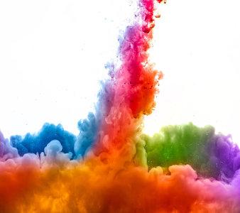 彩色水墨墨染
