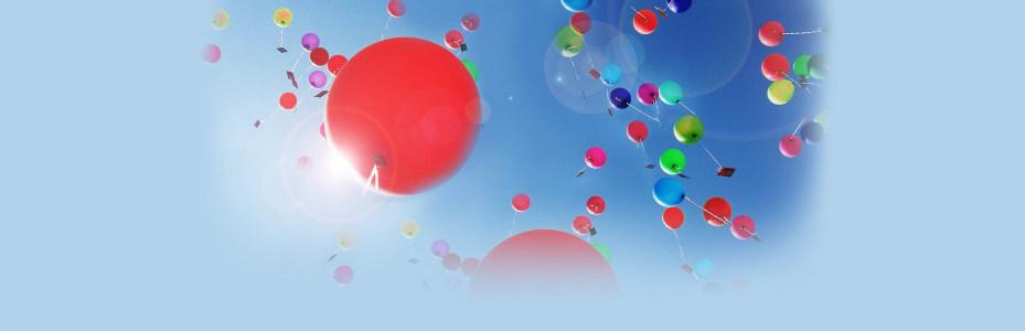 热气球唯美背景banner