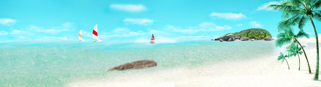 游玩 海边背景高清背景图片素材下载