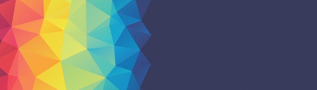 彩色几何形banner背景