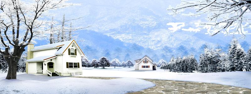 冬季郊外雪景背景高清背景图片素材下载