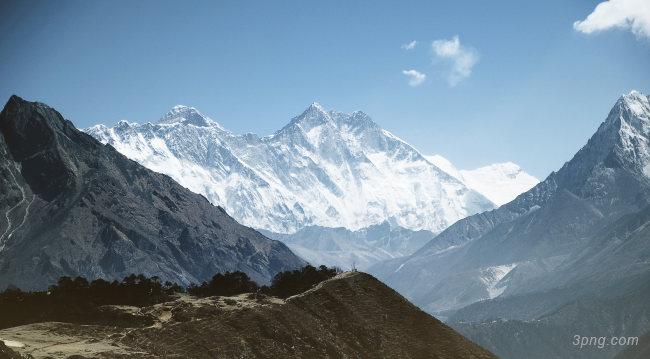 冬天雪山高清背景背景高清大图-高清背景底纹/肌理