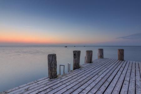 海景日落背景