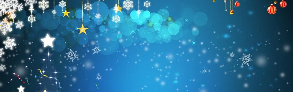 冬季圣诞梦幻光晕背景banner