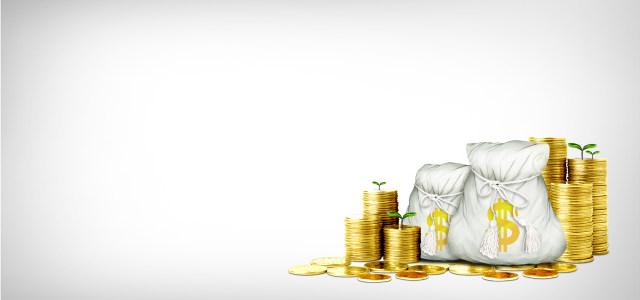 堆积的金币和钱袋