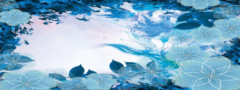 蓝色梦幻蝴蝶背景