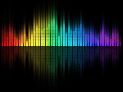 彩色音乐均衡器背景