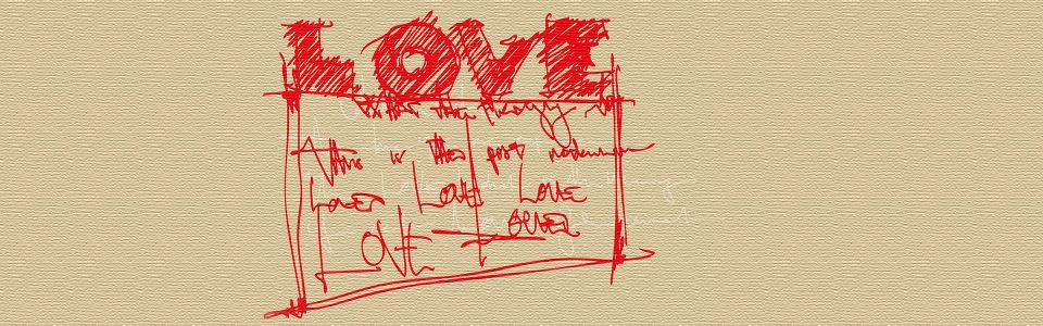 红色涂鸦爱情海报背景高清背景图片素材下载