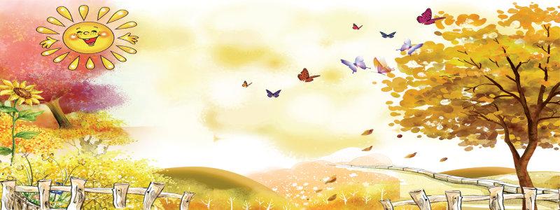 秋天童话背景