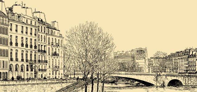 素描建筑图