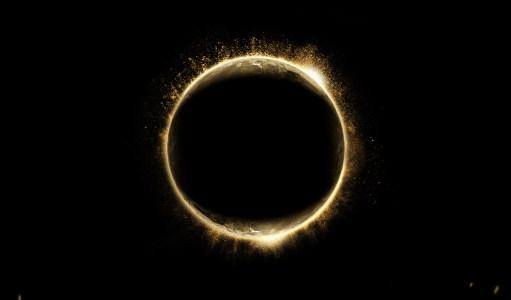 星球太阳系光圈背景高清背景图片素材下载