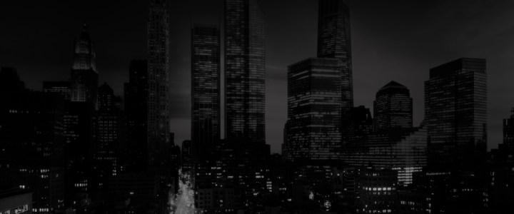 炫酷都市黑白夜景海报背景