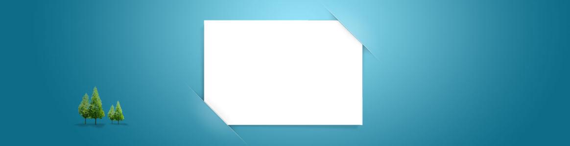 折纸蓝色质感清新背景banner