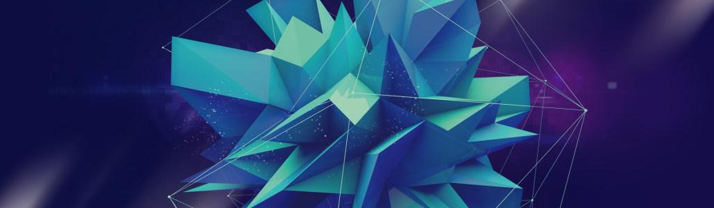 蓝色几何图形背景