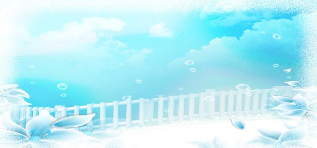白色木栅栏背景