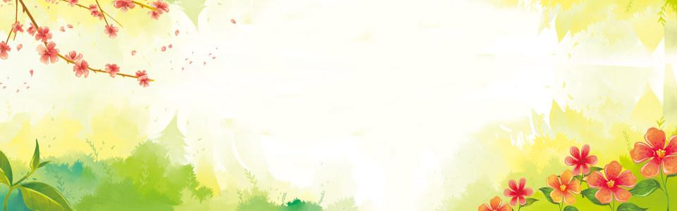 手绘清新海报背景高清背景图片素材下载